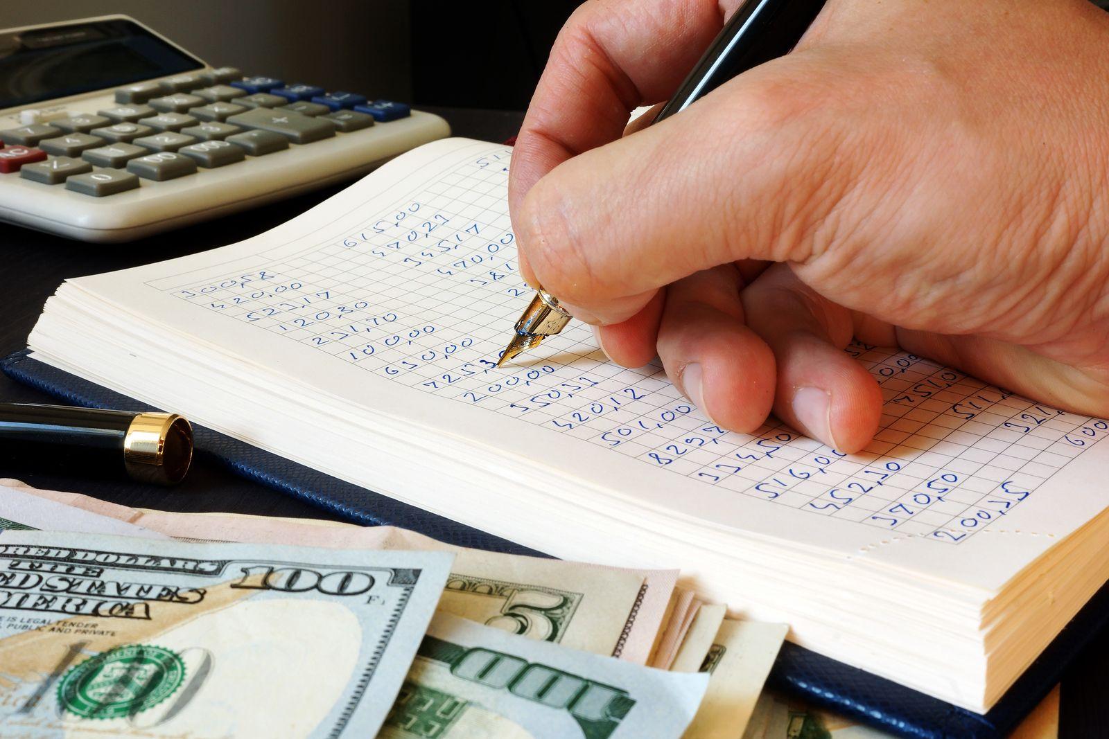 Bookkeeper writing