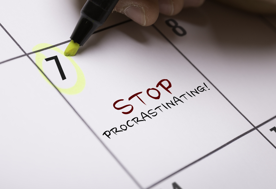 Procrastination affects business bookkeeping