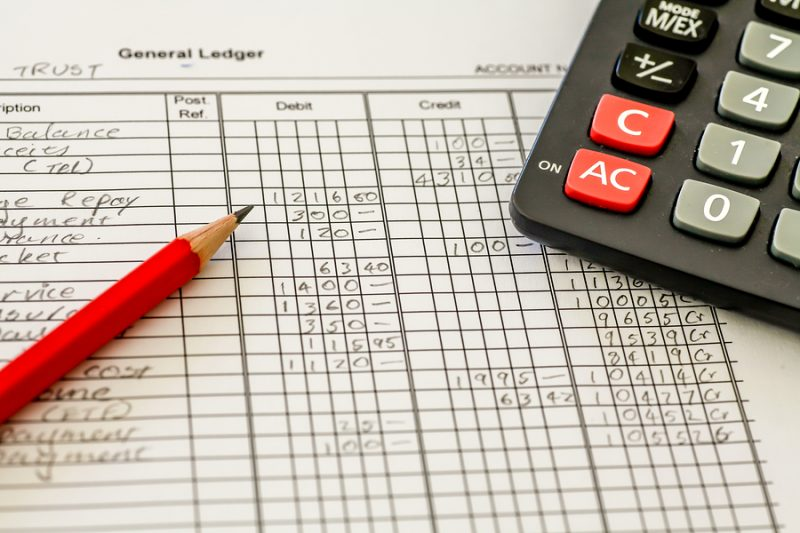 General ledger bookkeeping